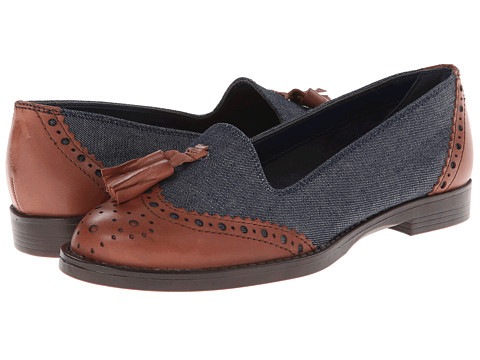 Bella-Vita - Reagan (Denim/Dark Tan) Women's Flat Shoes