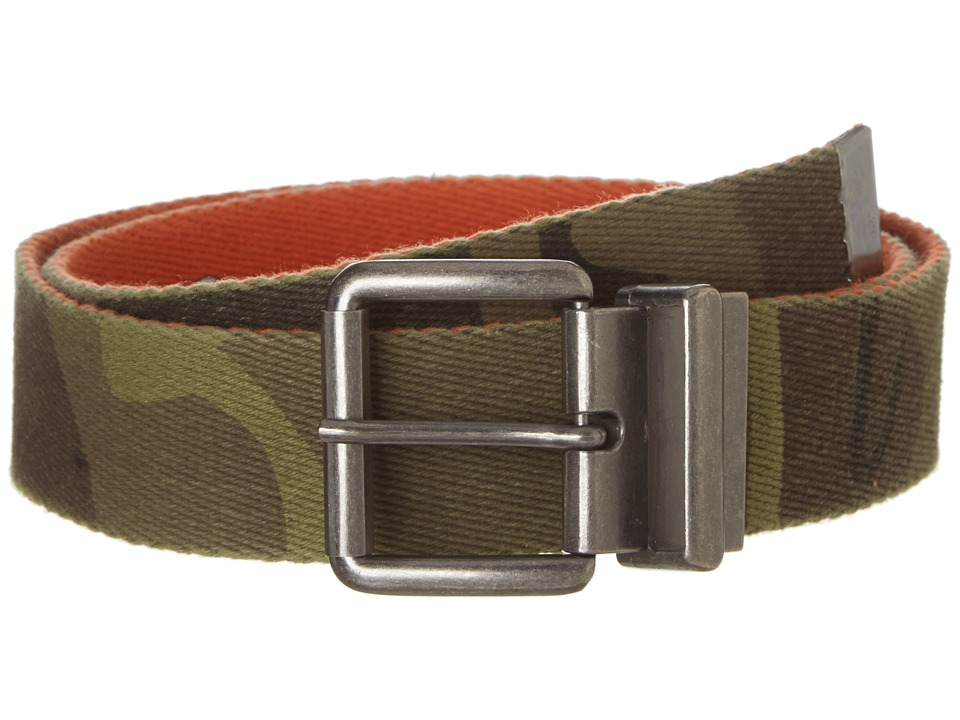 Bill Adler 1981 - Reversible Web (Camouflage/Orange) Men's Belts
