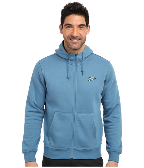 Nike Golf - Sport Logo Hoodie (Riftblue/White) Men's Sweatshirt