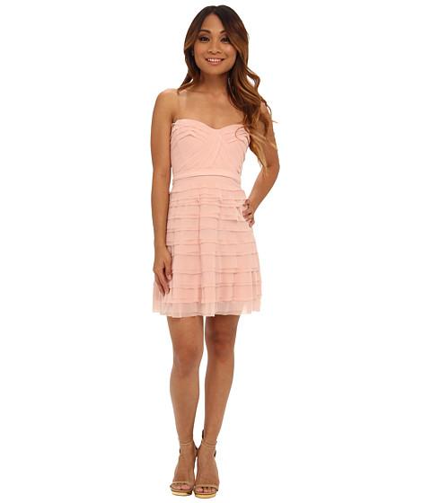 BCBGMAXAZRIA - Petite Cocco Tiered Strapless Dress (Light Shell) Women's Dress