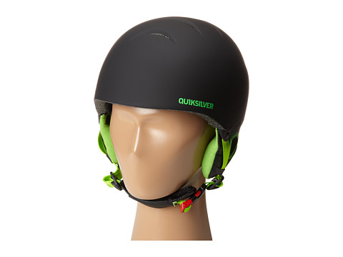 Quiksilver - The Game Helmet (Big Kids) (Black/Fluo Green) Snow/Ski/Adventure Helmet