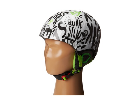 Quiksilver - The Game Helmet (Big Kids) (White/Green) Snow/Ski/Adventure Helmet