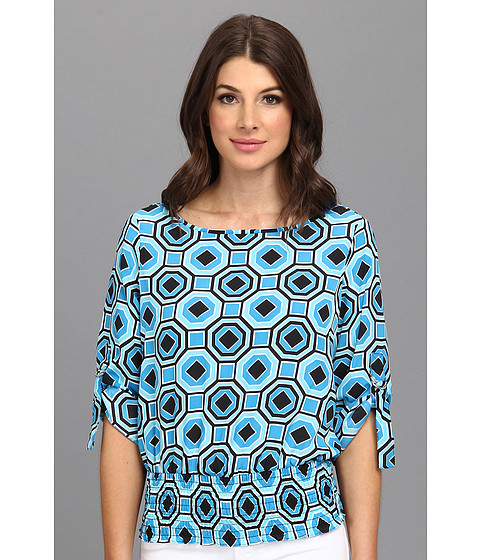 MICHAEL Michael Kors - D-Ring Kimono Top (Summer Blue) Women