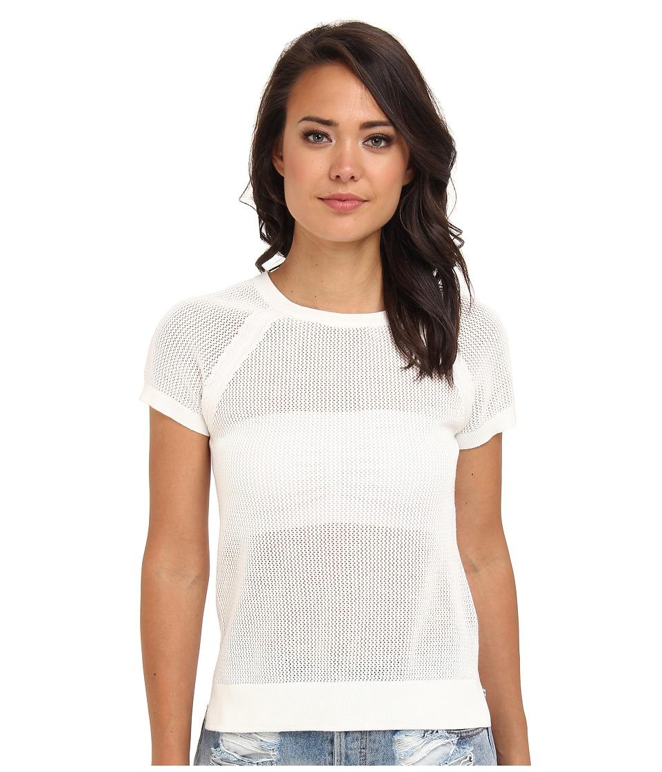 Sanctuary - Mesh Crew Tee (White) Women's T Shirt