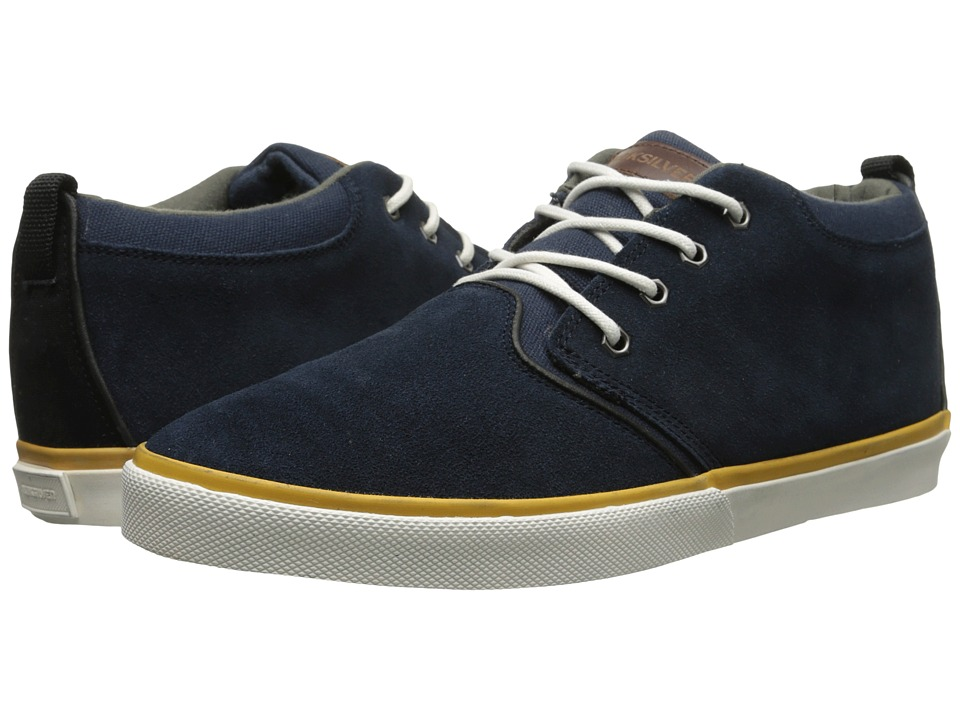 Quiksilver - Griffin Suede (Blue/Black/White) Men's Shoes