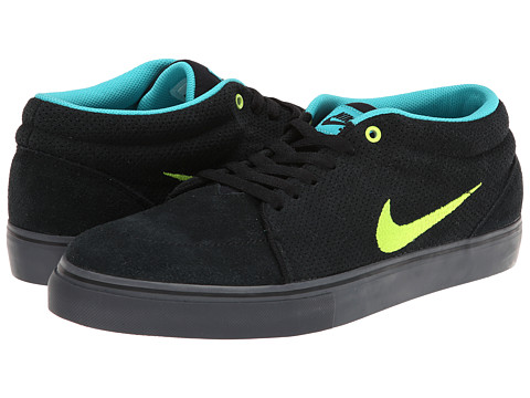 Nike SB - Satire Mid (Black/Dusty Cactus/Cool Grey/Volt) Men's Skate Shoes