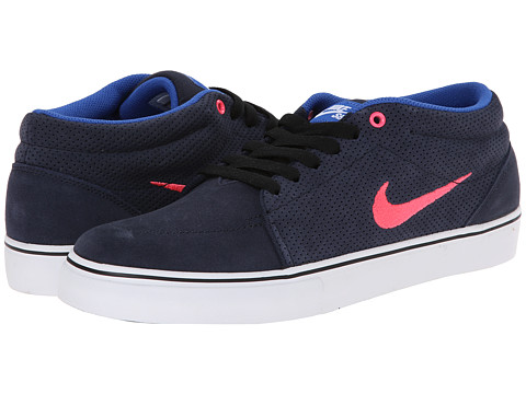 Nike SB - Satire Mid (Obsidian/Game Royal/White/Hyper Punch) Men's Skate Shoes