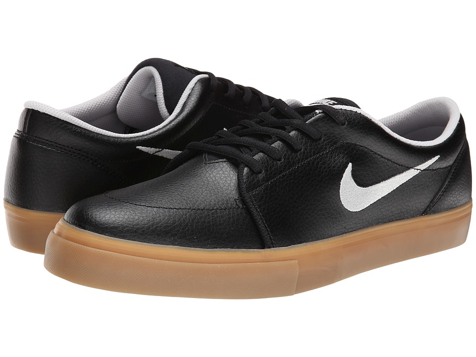 Nike SB - Satire L (Black/Gum Light Brown/Light Ash Grey) Men's Skate Shoes