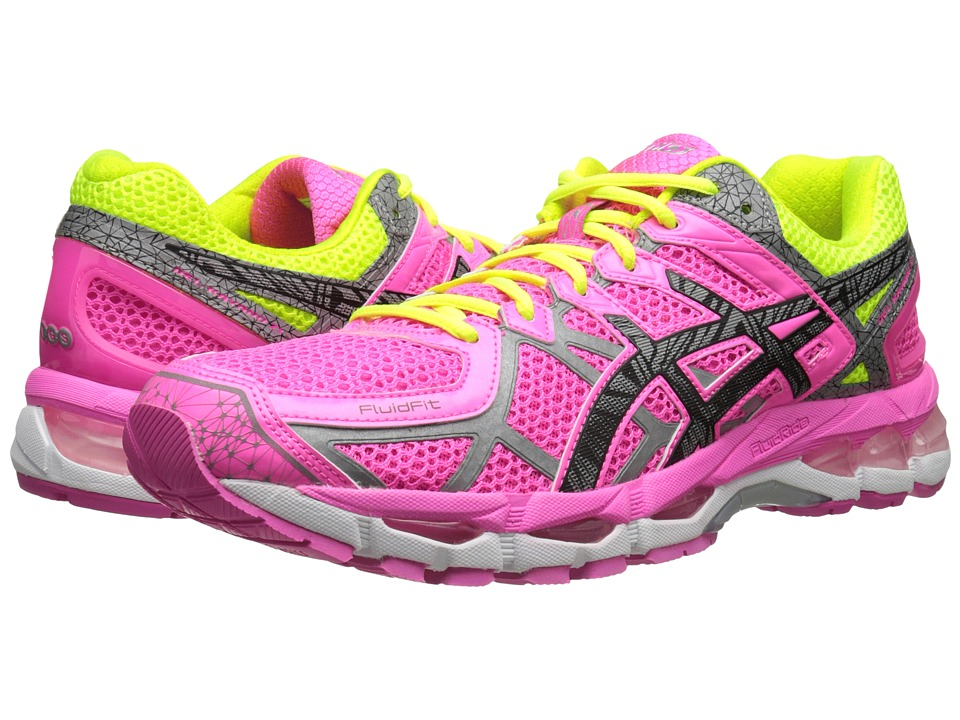 ASICS - GEL-Kayano 21 Lite-Show (Hot Pink/Lite/Safety Yellow) Women