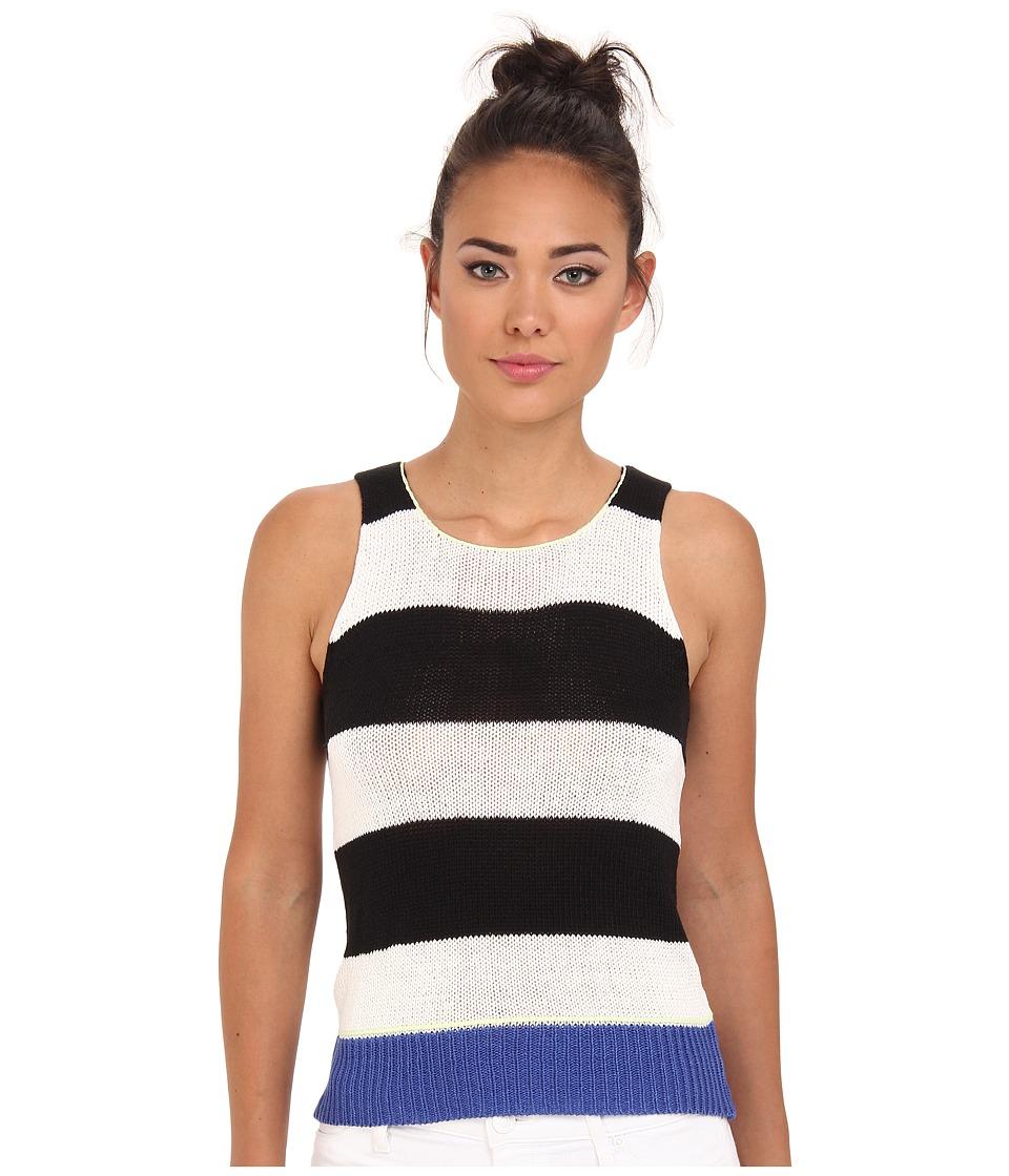 Sanctuary - Stripe Tanky (Black/White) Women's Sleeveless