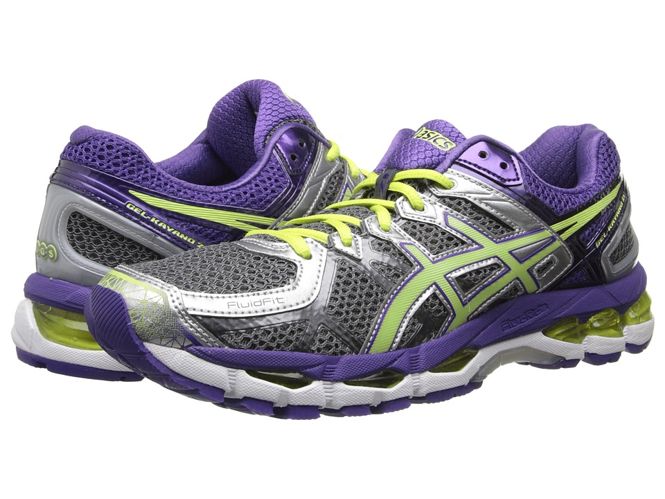 ASICS - GEL-Kayano(r) 21 (Charcoal/Sharp Green/Purple) Women's Running Shoes