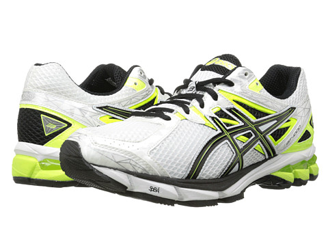 ASICS - GT-1000 3 (White/Black/Flash Yellow) Men's Running Shoes