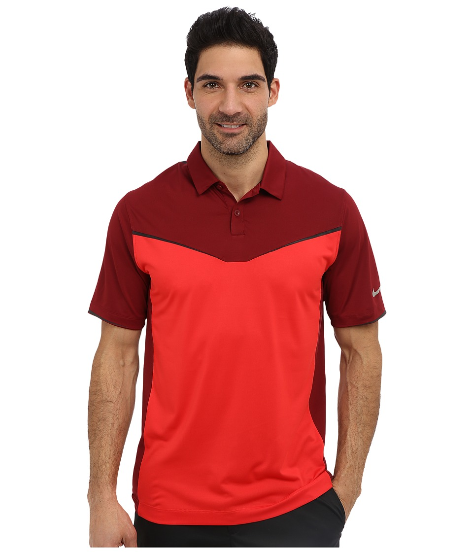 Nike Golf - Innovation Color Block Polo (Action Red/Team Red) Men