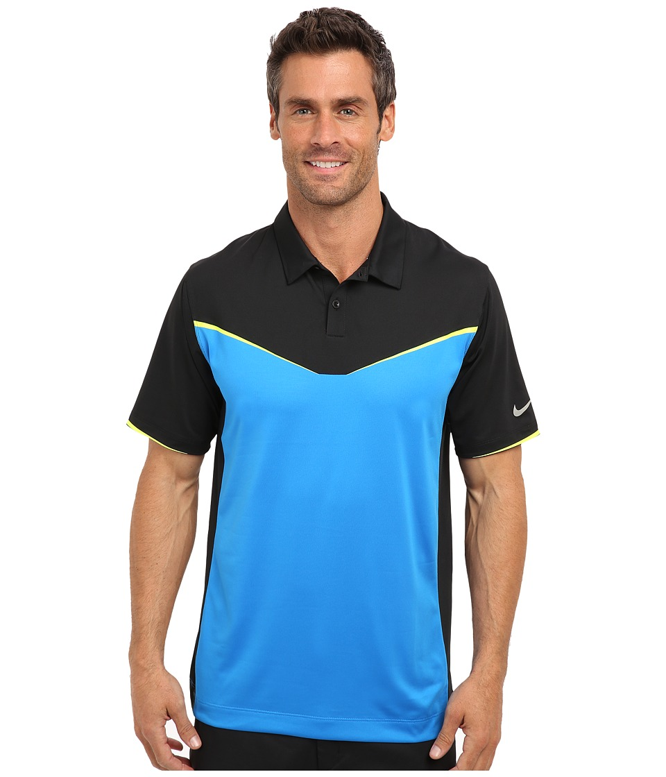 Nike Golf - Innovation Color Block Polo (Photo Blue) Men's Short Sleeve Knit