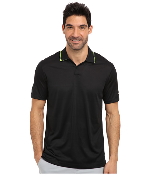Nike Golf - Innovation Jacquard Polo (Black/Metallic Silver) Men