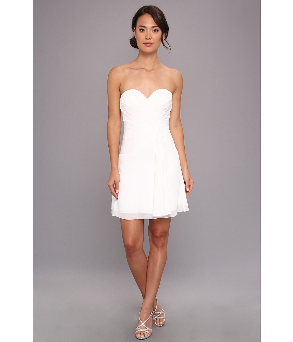 Faviana - Short Strapless Sweetheart Dress 7075A (Ivory) Women's Dress