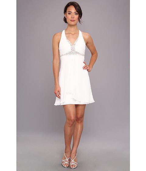 Faviana - Short Chiffon Dress 7214 (Ivory) Women's Dress