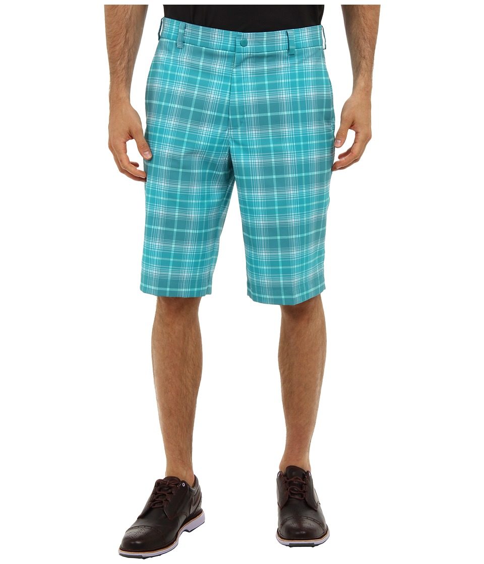 Nike Golf - Nike Golf Plaid Short (Catalina/Cool Grey) Men's Shorts