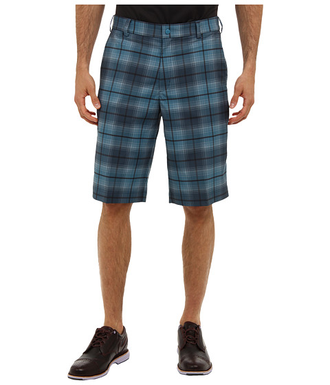 Nike Golf - Nike Golf Plaid Short (Riftblue/Cool Grey) Men's Shorts