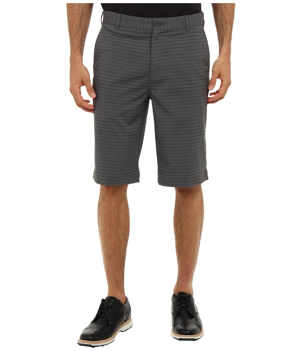 Nike Golf - Modern Tech Stripe Short (Dark Grey/Metallic Silver) Men