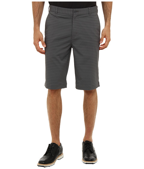 Nike Golf - Modern Tech Stripe Short (Dark Grey/Metallic Silver) Men