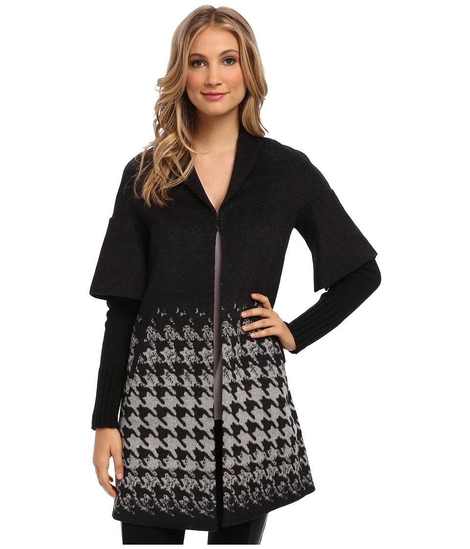T Tahari - Blake Coat (Black/Grey) Women's Coat