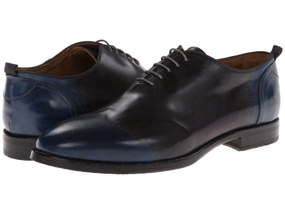 Kenneth Cole Black Label - Blurred Lines (Navy) Men's Lace Up Wing Tip Shoes