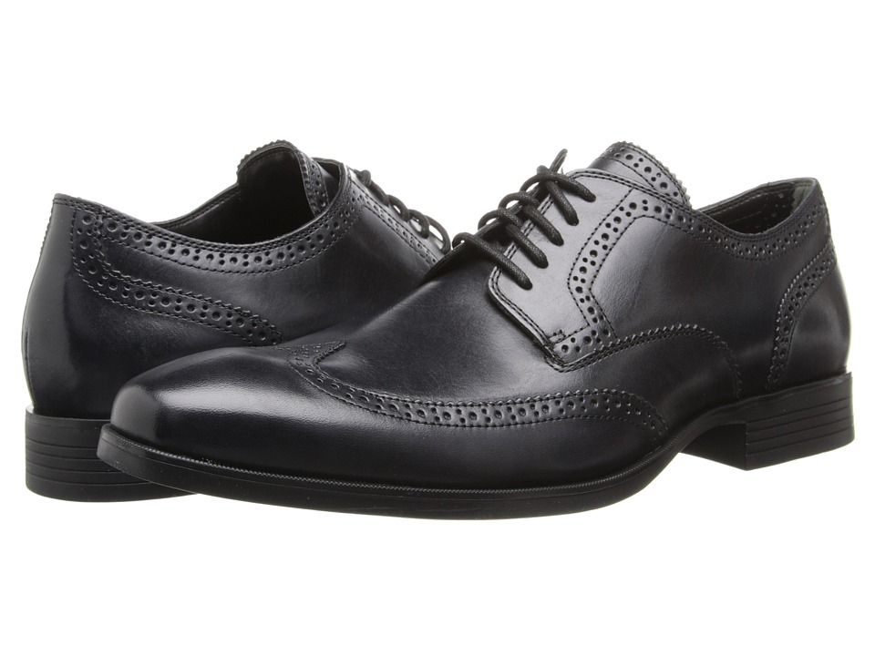 Cole Haan - Copley Wingtip Derby (Black) Men's Lace Up Wing Tip Shoes