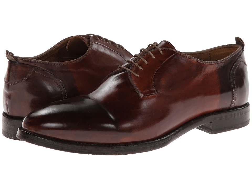 Kenneth Cole Black Label - Blurred Vision (Cognac) Men's Lace Up Cap Toe Shoes