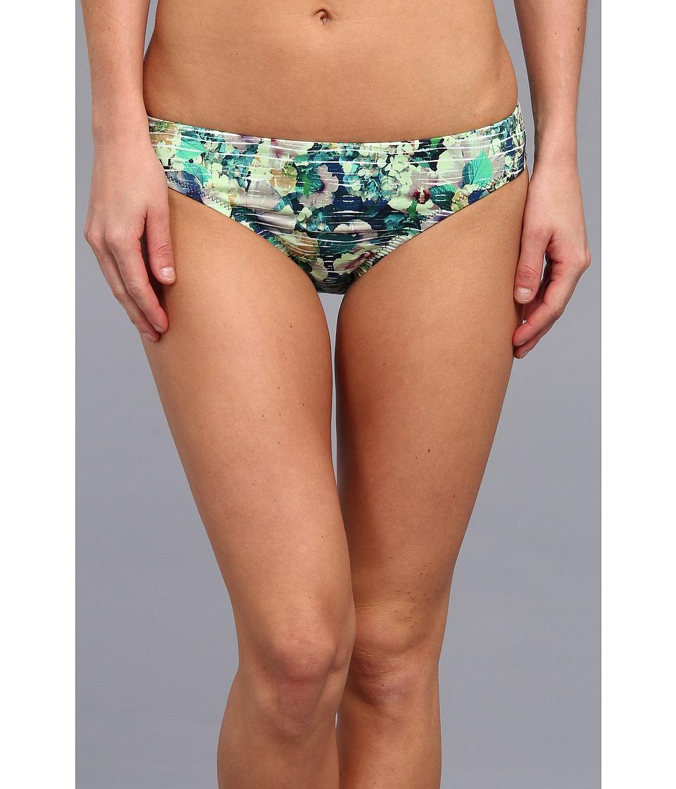 Nanette Lepore Hula Hibiscus Charmer Bikini Bottom Indigo Womens Swimwear