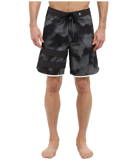 Hurley - Block Party Tie Dye Boardshort (Black) Men's Swimwear