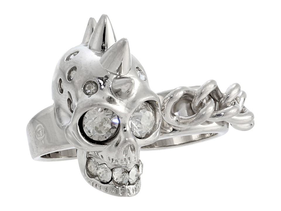 Alexander McQueen - Double Knuckle Skull Ring Set 1 (CR.Silver.Shade) Ring