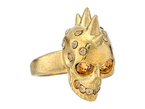 Alexander McQueen - Small Version Punk Skull Ring - Small (Light Colorado Topaz) Ring