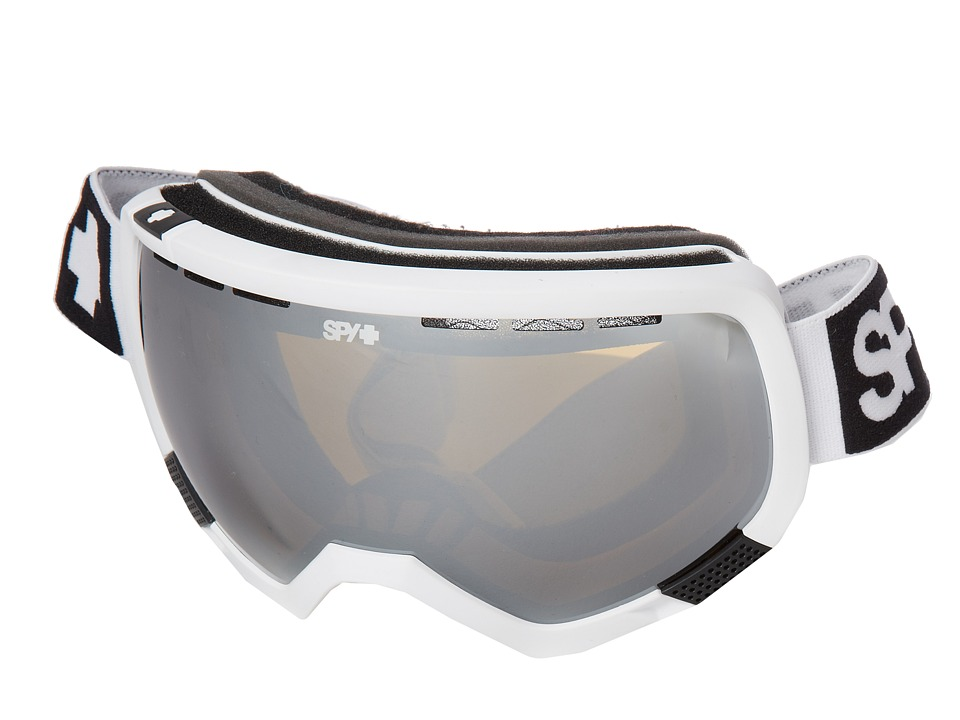 Spy Optic - Platoon '12 (White/Bronze w/ Silver Mirror/Persimmon Contact) Snow Goggles