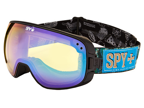 Spy Optic - Bravo (Field Of Dreams/Yellow w/ Green Spectra/Bronze w/ Light Blue Spe) Snow Goggles