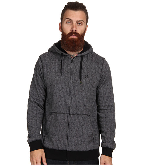 Hurley - Retreat Sherpa Fleece Top (Medium Ash) Men's Sweatshirt