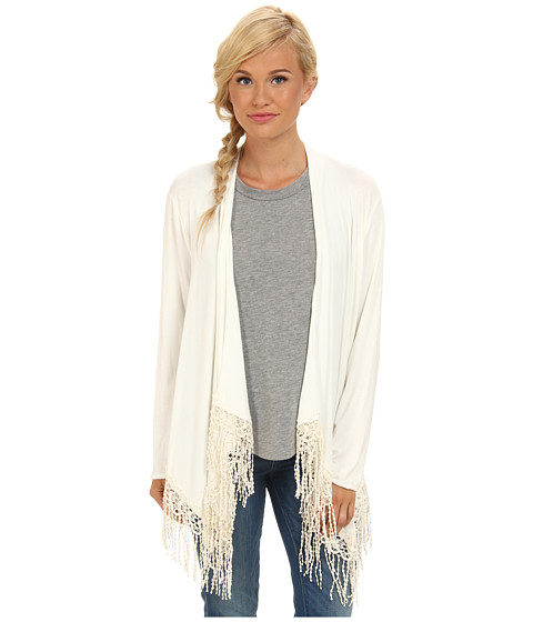 Lucy Love - Sophie Shawl Sweater (Seashell) Women