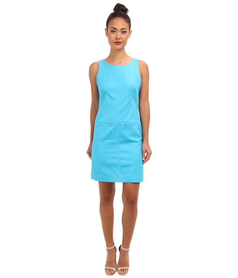 Christin Michaels - Bree Dress (Turquoise) Women