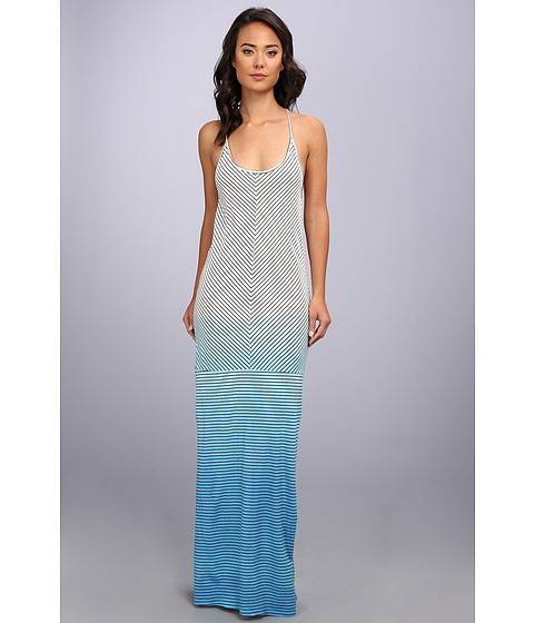 Alternative - Hermosa Maxi Dress (Cambridge Blue Nautical Stripe/Aquaruis) Women