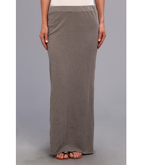 Michael Stars - Slub Jersey Maxi Skirt w/ Slit (Galvanized) Women's Skirt