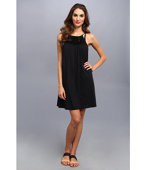 Michael Stars - Macrame Yoke Sleeveless Dress (Black) Women