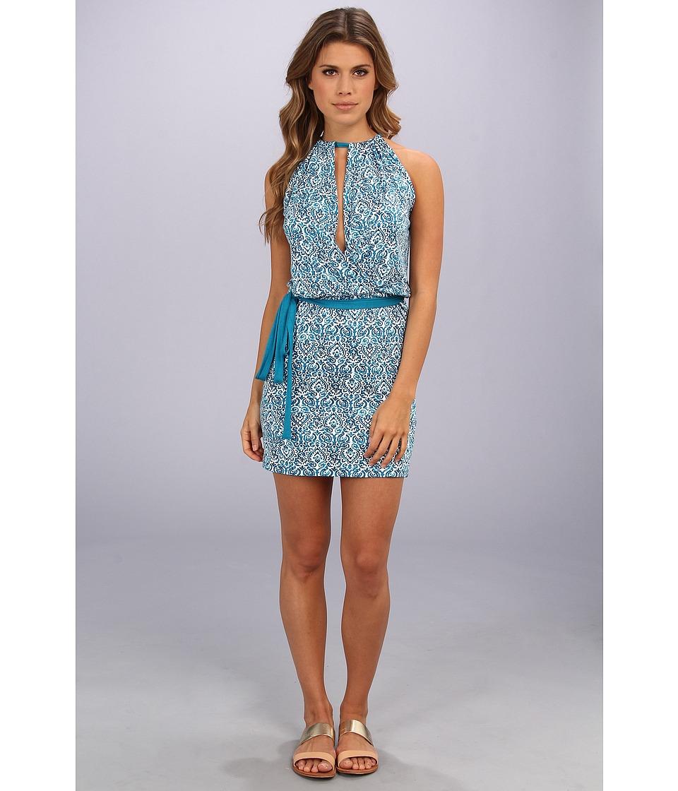 Michael Stars - Filagree Batik Print Halter Dress (Atlantic) Women's Dress