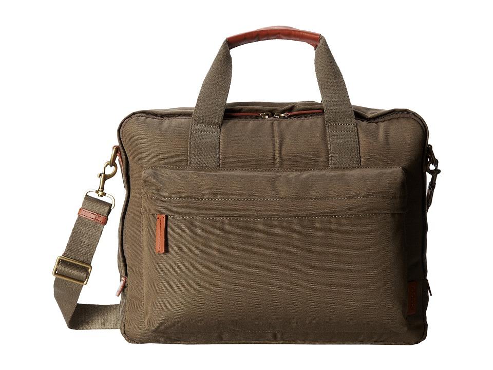 ECCO - Eday Laptop Briefcase (Olive) Computer Bags