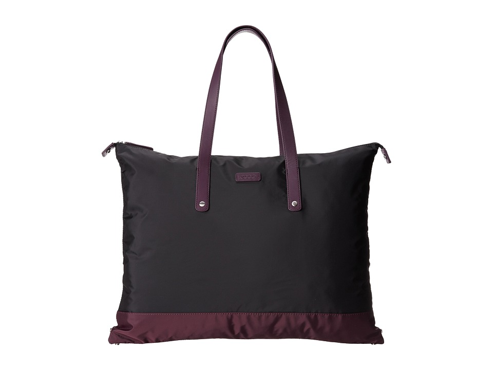 ECCO - Eldora Shopper (Black/Burgundy) Tote Handbags