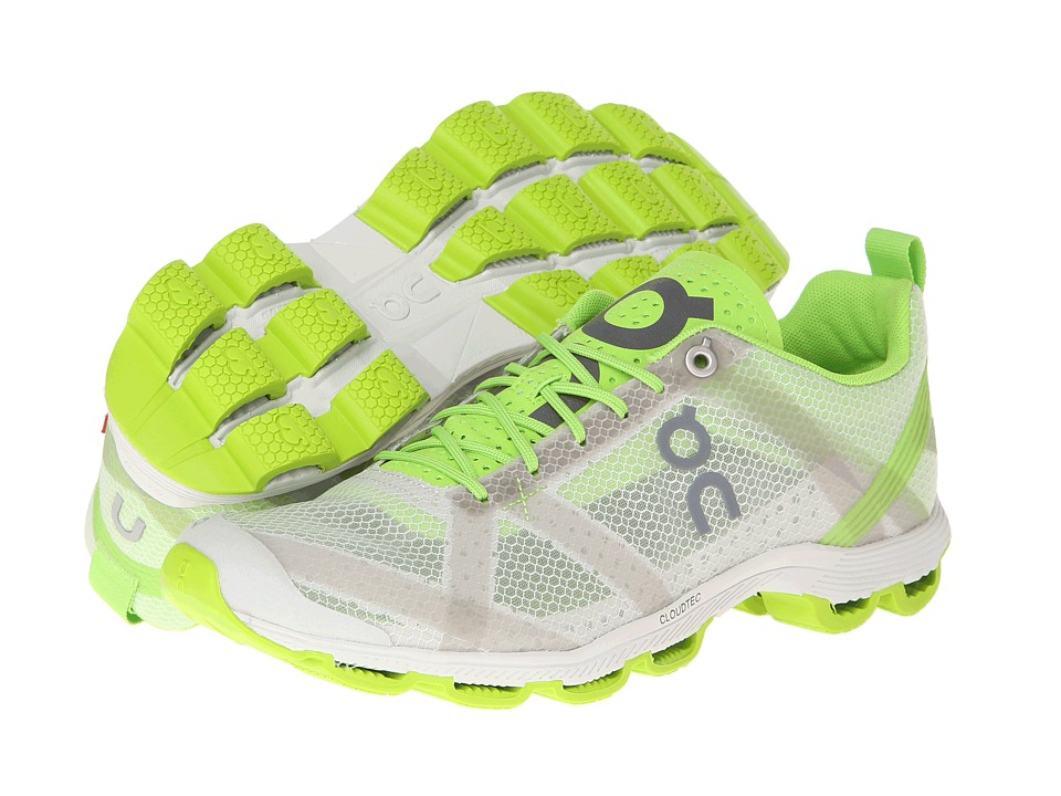 On Cloudracer (Silver/Lime) Women