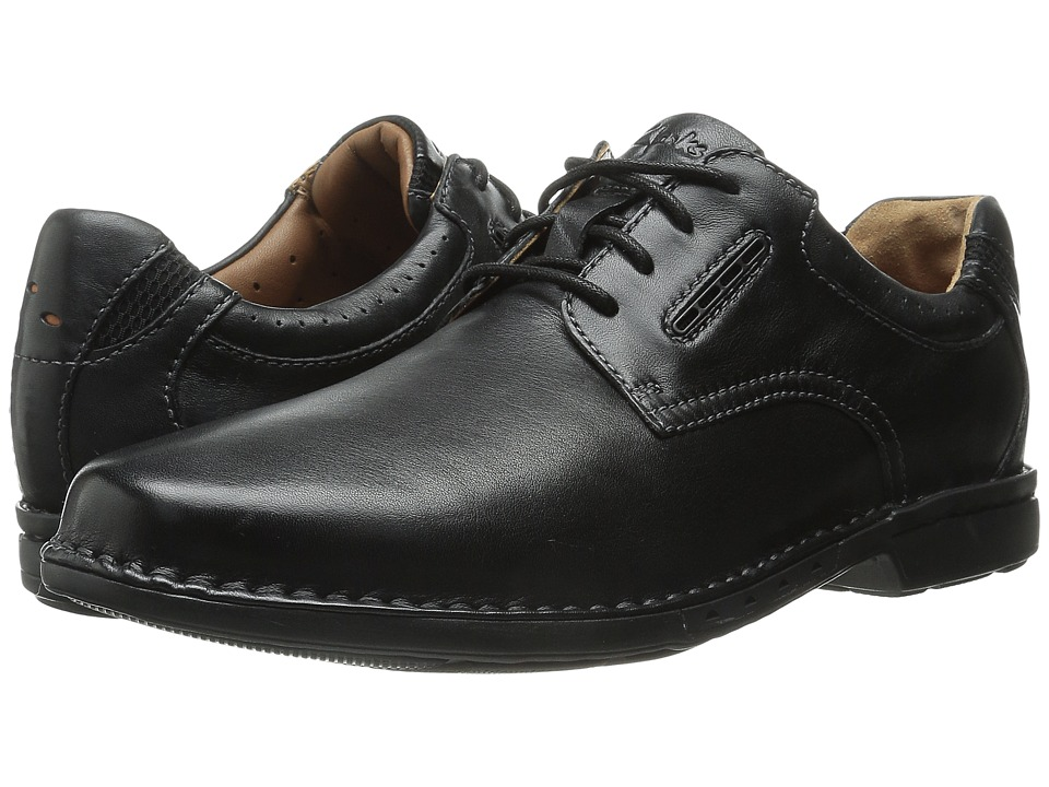 Clarks - Un.Corner Plain (Black Leather) Men