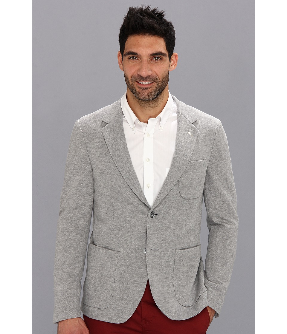 Gant Rugger - Pique Unconstructed Blazer (Grey Melange) Men's Jacket