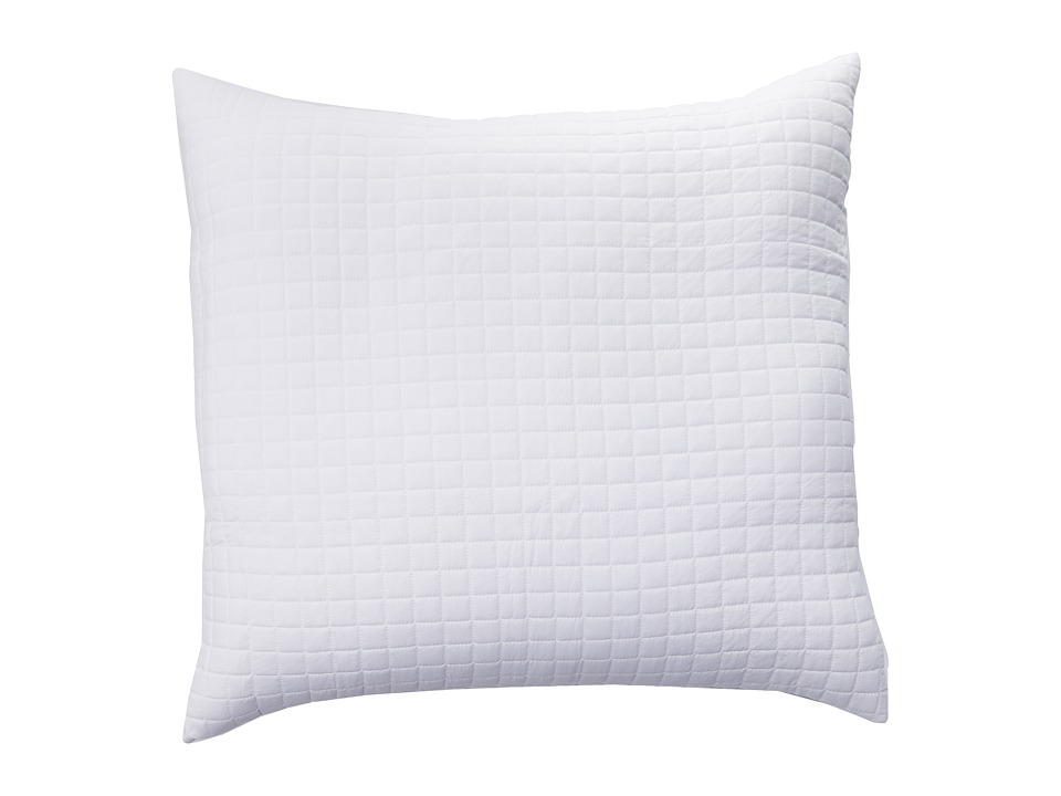 Home Source International - 100% Rayon from Bamboo Quilted Box Euro Sham (White) Sheets Bedding