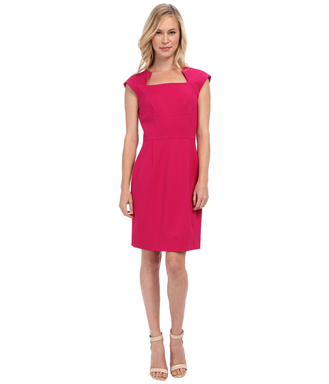 Tahari by ASL Petite - Petite Valerie Dress (Fuchsia) Women