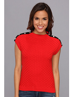 SALE! $29.99 - Save $39 on Anne Klein Extended Shoulder w Button Detail (Red) Apparel - 56.54% OFF $69.00